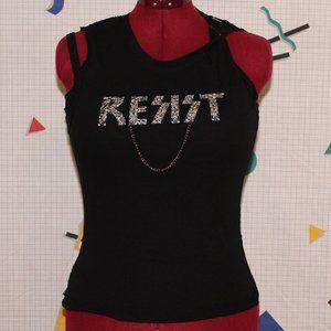 Black Vexy Resist tank top